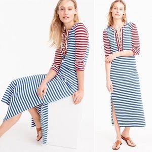 NEW! J. Crew Striped Lace Up Dress Beach Cover Up